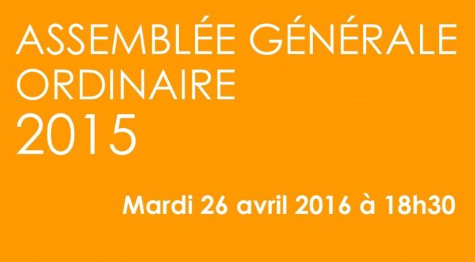 Assemblée Générale Ordinaire 2015