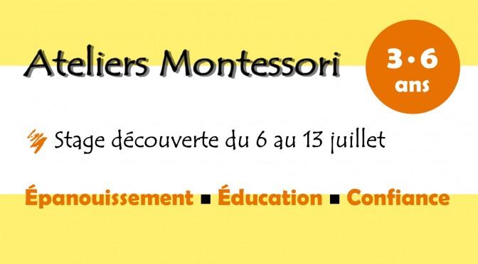 Stage découverte Montessori pour les 3-6 ans