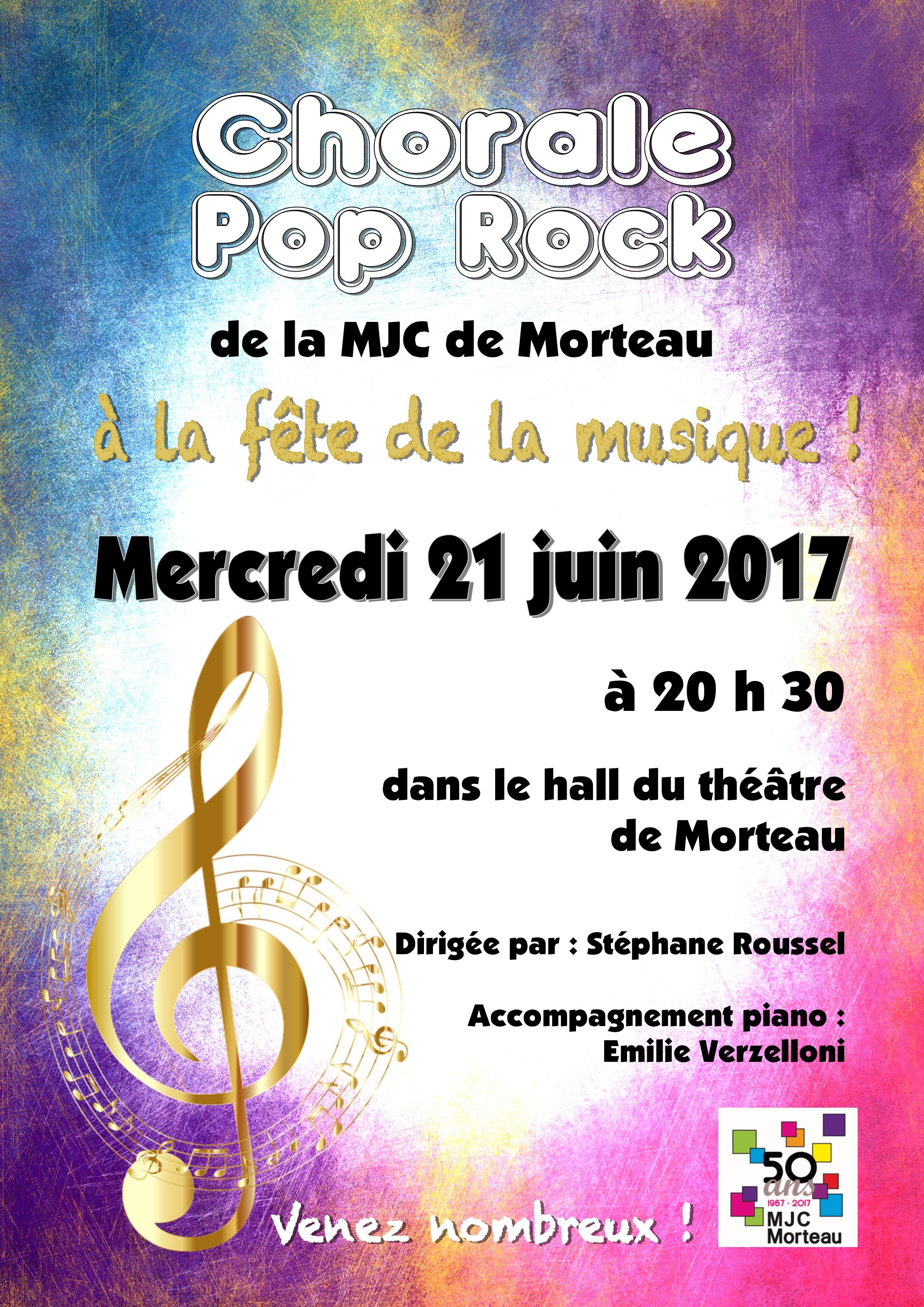 chorale pop rock - fete de la musique