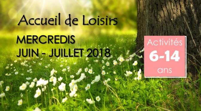 Programme des mercredis de juin-juillet 2018