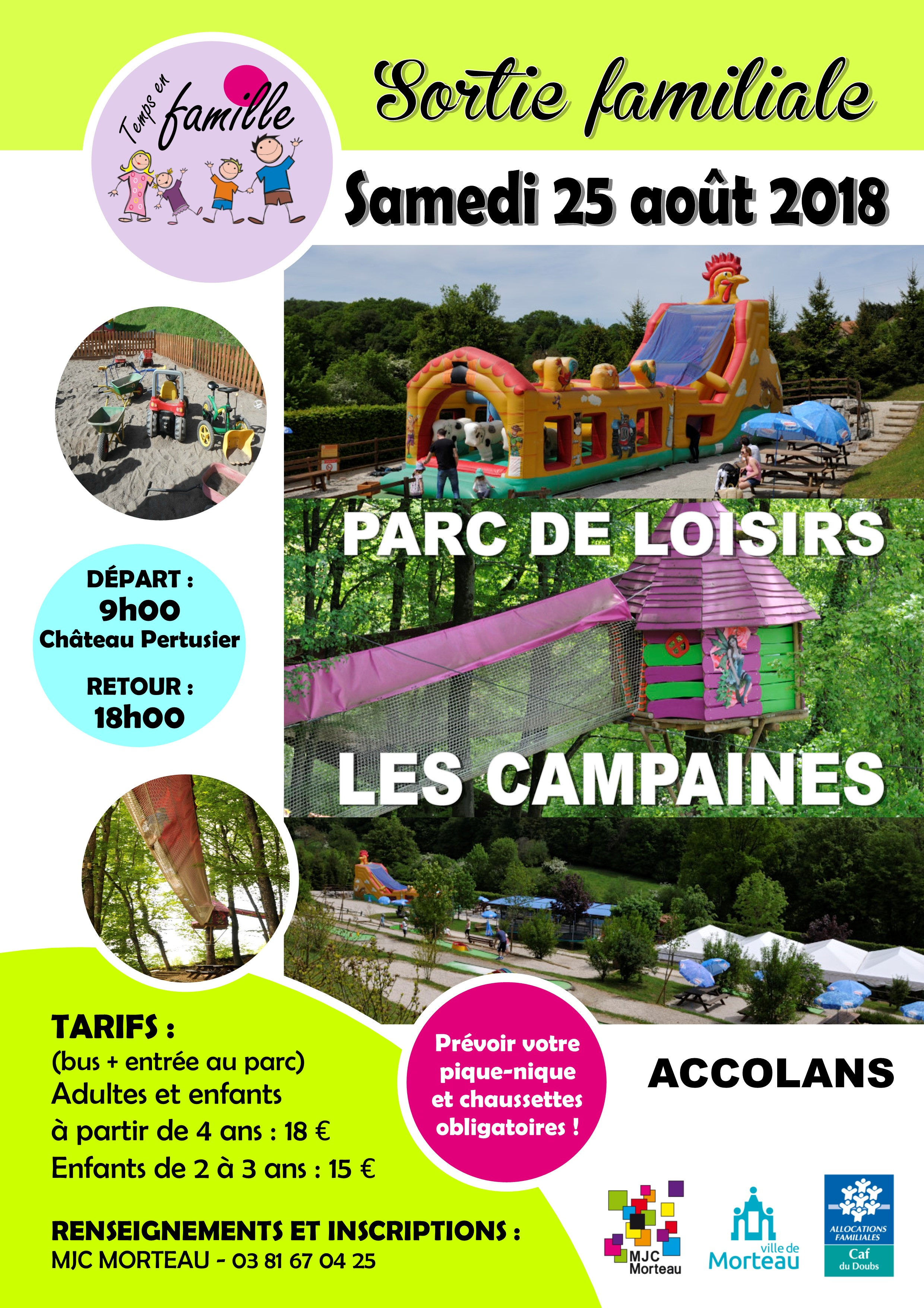 sortie CAMPAINES AOUT 2018