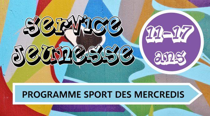 Programme sport des mercredis NOVEMBRE-DECEMBRE 2019