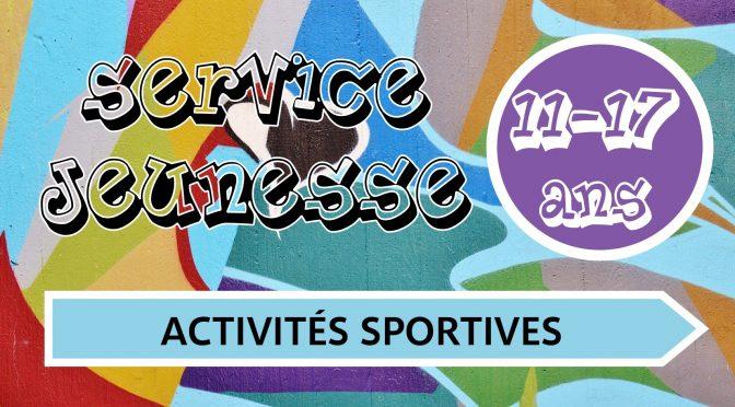 ACTIVITES SPORTIVES 11/17 ANS – VACANCES DE LA tOUSSAINT