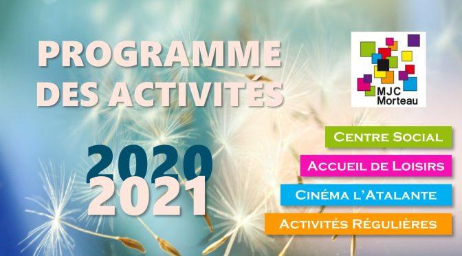 programme des activites 2020/2021