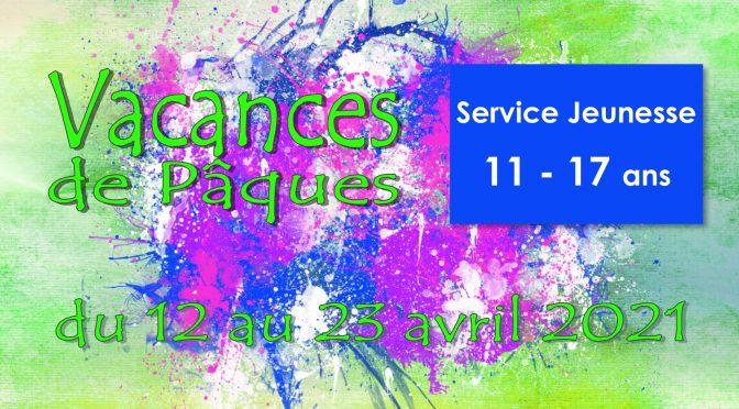 VACANCES DE PAQUES  11 – 17 ANS