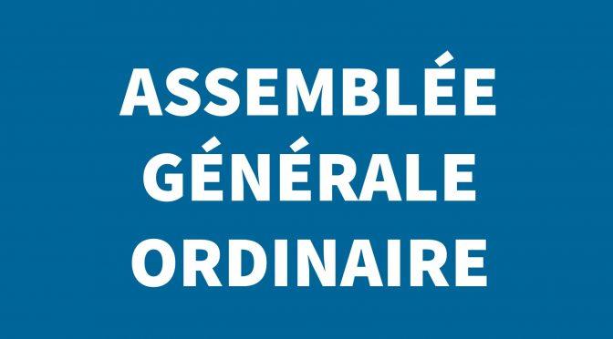ASSEMBLEE GENERALE ORDINAIRE – jeudi 25 juin à la salle des fêtes de morteau