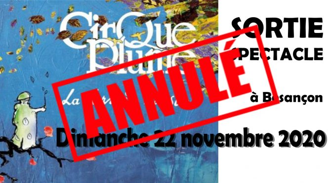 sortie spectacle : cirque plume